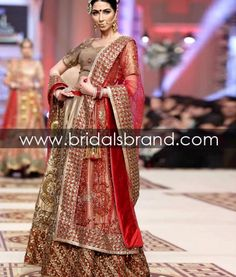 Pakistan Fashion Shows, Fashion Designers, Beauty tips and Models Red Lehenga, Bridal Lehenga Choli, Saree, Pakistani Formal Dresses, Pakistani Outfits, Pakistani Couture, Pakistani Bridal, Desi Bride, Latest Fashion Dresses