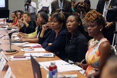Members of the Black Women's Rountable hold a forum on the power of African American women at the polls at the Congressional Black Caucus Foundation's Annual Legislative Conference on Wednesday, Sept. 16, 2015 in Washington. The Black Lives Matter network will not make a presidential endorsement but will keep up its political activism by confronting candidates about the treatment of African-Americans in the United States.