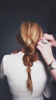 "an ""un-done"" braid"
