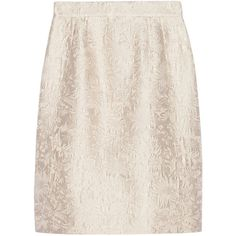 Dolce & Gabbana Cotton and silk-blend jacquard skirt (7,975 MXN) ❤ liked on Polyvore featuring skirts, dolce & gabbana, ecru, pink skirt, cotton knee length skirt, pink knee length skirt, dolce&gabbana and knee high skirts