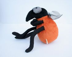 Funny Fruit Fly - Plush Insect on Etsy, $41.10