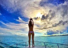 GoProGirl @ameliaklonaris reaching for stars at the Bahamas. #GoPro #GoProGirl #bahamas #paradise #caribbean