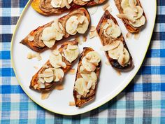 Sweet Potato Toast with Almond Butter, Banana and Toasted Coconut Chips