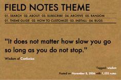 Field Notes Tumblr Theme