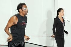 Michael Olajide and Adriana Lima jumping rope..How to master the jump rope and why you really should