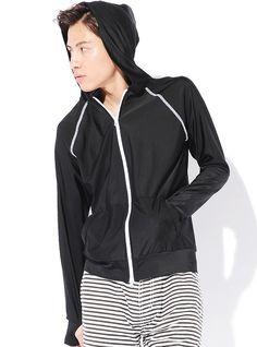 Amazon.co.jp: JACK PORT(ジャックポート) UV対策 ジップアップ パーカー 体型カバー ラッシュガード 指穴付き 長袖 無地 花柄 ラッシュパーカー メンズ 今季最新 JKP20323: 服&ファッション小物