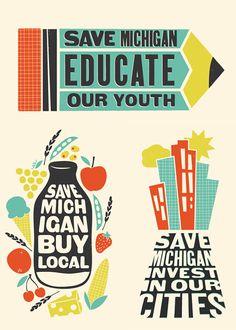 #SayWordsOutLoud #SBP2014 save michigan, buy local / Amanda Jane Jones