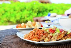 NadyaEugene Photography - Homemade mexican fried rice with chicken and vegetables