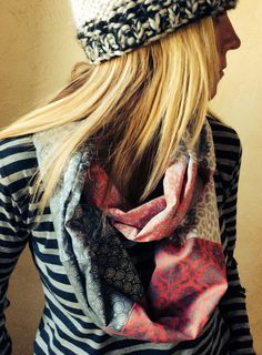 cotton patchwork infinity scarf – Burly Chic