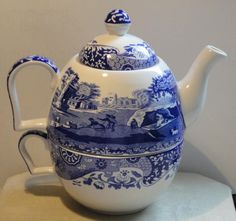COPELAND SPODE BLUE ITALIAN Tea For One Set Cup, Teapot