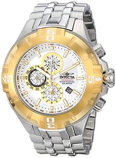 Men's Wrist Watches - Invicta Mens 12360 Pro Diver Chronograph Silver Dial Stainless Steel Watch *** Click image for more details. (This is an Amazon affiliate link)