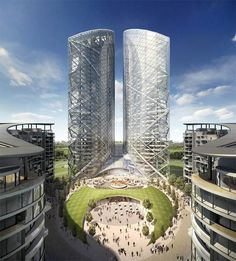 Norman Foster Designs | Norman Foster's Almaty Twin Towers in Kazakhstan
