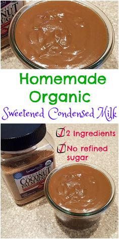 Two-Ingredient homemade organic sweetened condensed milk is easy to make, contains no refined sugar, and has a lovely deep caramel color and flavor. Use it in your coffee, as a cake filling or in no-churn ice cream. Veganize by using organic coconut milk in place of the dairy. | pastrychefonline.com