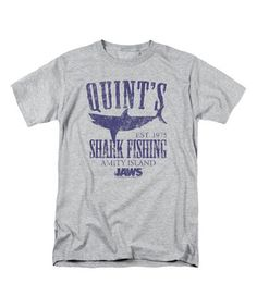 Look what I found on #zulily! Athletic Heather 'Quint's Shark Fishing' Tee - Men's Regular #zulilyfinds