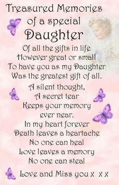 Treasured memories of my daughter. • Linda ♡ Forever 28 •