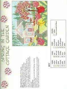 Lovely seasons in long stitch ~ Spring in the Cottage Garden 2/9