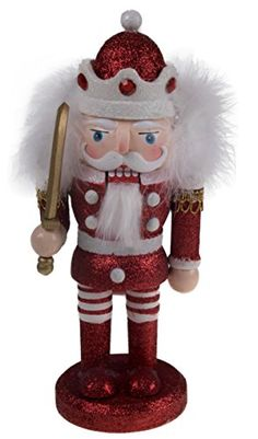 Christmas Wooden Chubby Red and White Nutcracker with Sword 10 Tall * See this great product.