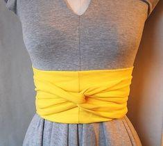 diy inspiration- cotton jersey obi belt
