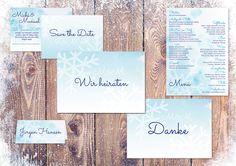 Vorgefertigtes Hochzeitsdesign Winter-Serie. Modern, trendy, zart