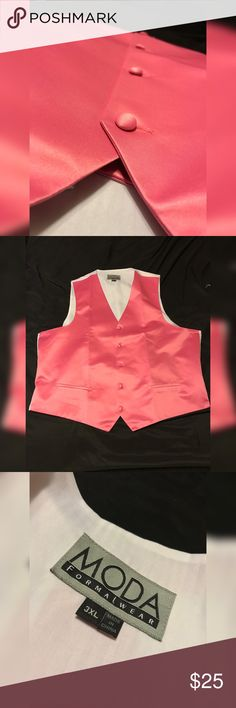 Vest Formal Pink Vest 3XL Never Worn Moda International Suits & Blazers Vests