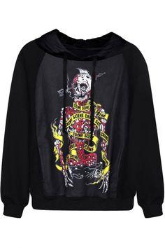 skeleton fish unusual skull Sweater Tumblr kid /& adult jumper sweatshirt