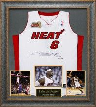 LeBron James Signed Jersey Framed