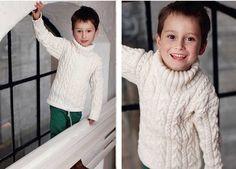 Свитер для мальчика с косами - схема вязания спицами. Вяжем Свитеры на Verena.ru