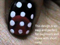VERY EASY Nail Art For Beginners - nail designs for short nails- nail art tutorial and nail design