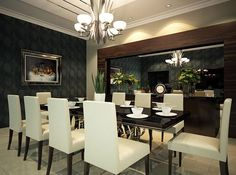 Expressive Dining Room Design  Luxurious family style