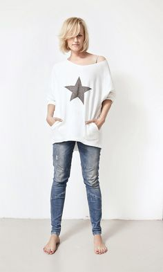 white blouse with star