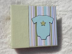 Premade 6x6 baby boy scrapbook by SimplyMemories on Etsy