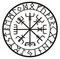 Viking Schutz Runen Vegvisir Kompass Talisman schwarzen Vinyl-Aufkleber This rune is known as Vegvis Band Tattoos, Body Art Tattoos, Cross Tattoos, Maori Tattoos, Viking Protection Rune, Protection Tattoo, Protection Sigils, Les Runes, Symbole Viking