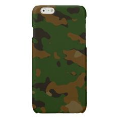 Military camouflage patterns v12 glossy iPhone 6 case