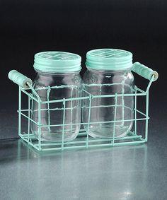 Another great find on #zulily! Blue Jar & Caddy Set #zulilyfinds