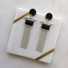 Excited to share this item from my #etsy shop: Silver Tassels Black Stud Fashion Dangle Earrings Handmade - Statement Earrings - Resin Acetate - Silver Earring - Black Earrings Black Earrings, Statement Earrings, Dangle Earrings, Earrings Handmade, Tassels, Dangles, Black Stud Earrings, Tassel, Drop Earrings