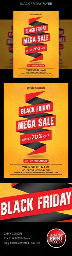 #Black #Friday Sale - #Flyers Print Templates