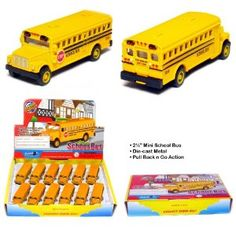 Sara's been in to school busses.  I'm thinking we may have to have a school bus themed birthday party with these as favors.