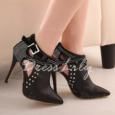 Sexy Hollow Out and Rhinestones Design Women's Boots
