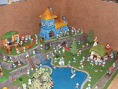 Blue Imps - smurf pictures, smurf facts, smurfs from Wales, UK. Smurf Village, Fairy Village, Lego Birthday, Miniature Fairy Gardens, Fairy Land, Magical Creatures, Fairy Houses, Crafty Projects, Smurfs