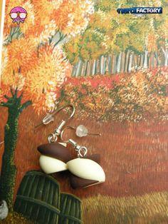 Marshmallow earrings hand-made! http://www.thenfactory.com/prodotto/marshmallows-orecchini/