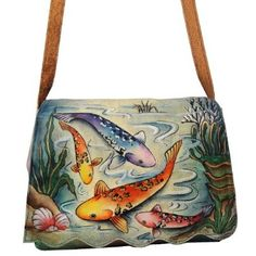 ANUSCHKA hand painted leather shoulder bag: Amazon.co.uk: Shoes & Accessories