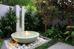 Want to improve your backyard or landscape design? Add a water feature like a fountain, pond, stream, or pool. Here are 24 inspiring outdoor water feature ideas for you to try! Small Japanese Garden, Japanese Garden Design, Modern Landscaping, Backyard Landscaping, Backyard Ideas, Landscaping Design, Waterfall Landscaping, Landscaping Borders, Pond Ideas