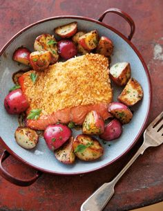 Mustard-Crusted Salmon with Red Potatoes   Williams-Sonoma Taste