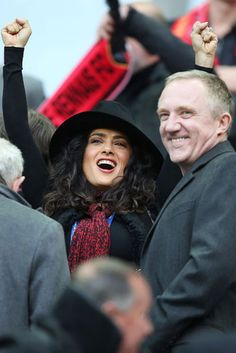 Salma Hayek & Francois-Henri Pinault @ the French League Cup final soccer match in Paris. Get more pics of the day here!
