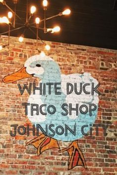 White Duck Taco Shop in Johnson City -The restaurant is super cute and the seating is open to the Yee Haw Brewing Company next door. Townsend Tennessee, Chattanooga Tennessee, East Tennessee, Family Vacation Destinations, Vacation Trips, Johnson City Tennessee, Taco Shop, North Carolina Mountains, Tennessee Vacation