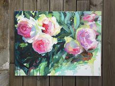Large Oil Painting Wall Art 24 X 31 Oil Painting