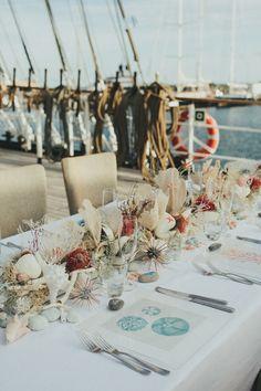 beach wedding, photo by IglooPhoto http://ruffledblog.com/wedding-inspiration-on-an-italian-sailing-ship #weddingideas #beachwedding