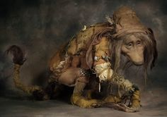 "Large Troll by Wendy Froud, 18"" tall (crouching) x 32"" long, Detail ..."