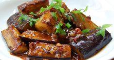 Vegan Spicy Garlic Japanese Eggplants, With Bamboo Shoots And Black Fungus Mushrooms. Spicy Eggplant, Eggplant Recipes, Tofu Recipes, Indian Food Recipes, Asian Recipes, Vegetarian Recipes, Cooking Recipes, Healthy Recipes, Japanese Recipes