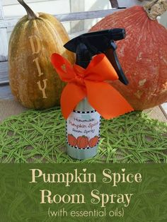 Love the smell of pumpkin spice in the Fall but hate filling your house with nasty chemicals? This DIY Essential Pumpkin Spice Room Spray is your answer.